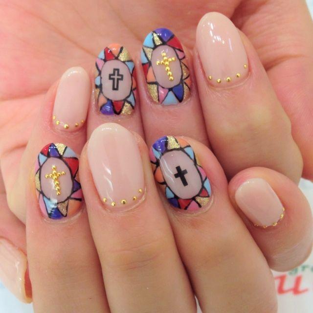 stained glass manicure витражный дизайн ногтей: info-design-nail.ru