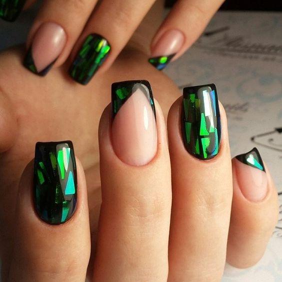 Дизайн ногтей стекло