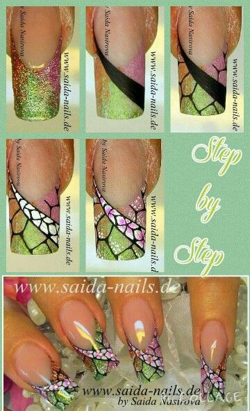 Рисунки на ногтях поэтапно