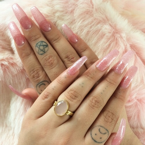 transparent nail design  прозрачный маникюр розовый  manicure with transparent tips