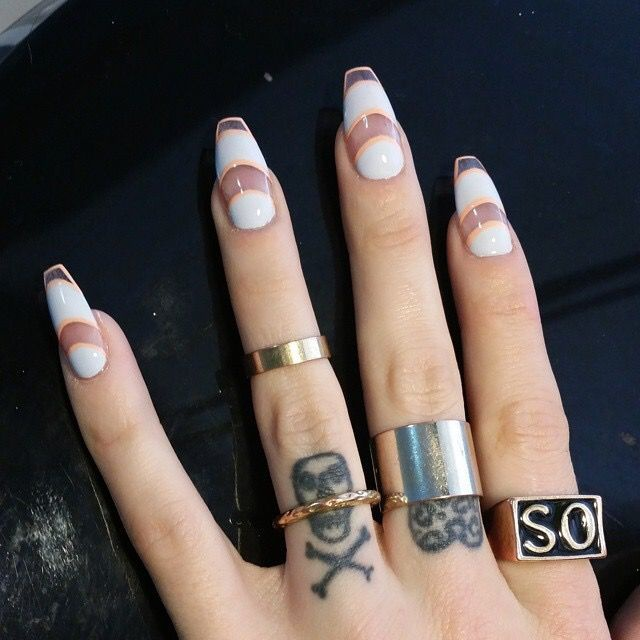 transparent nail design  прозрачный маникюр балетки manicure with transparent tips
