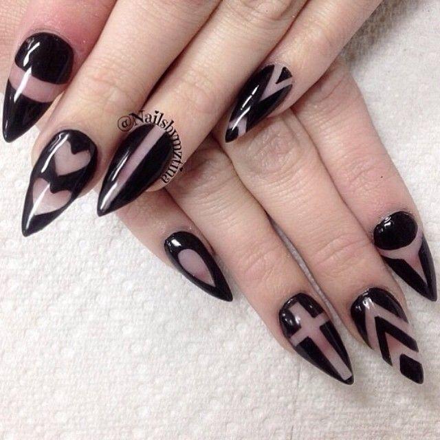Дизайн ногтей на прозрачной основе