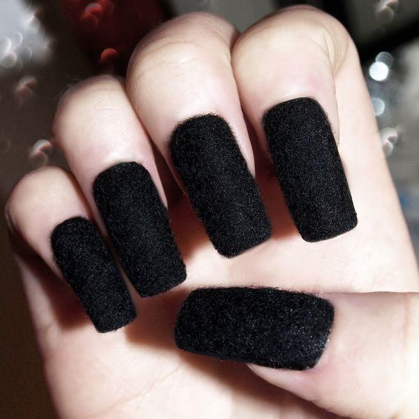 Флок дизайн ногтей