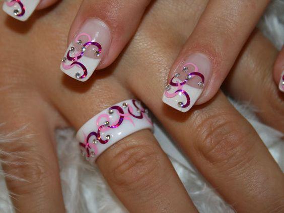 Дизайн ногтей френч с рисунком