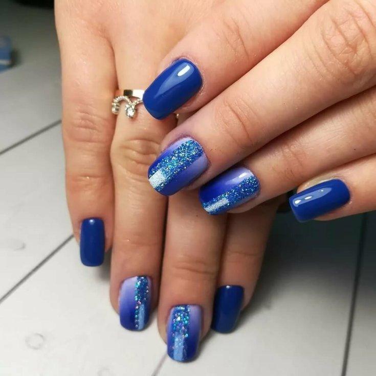 Дизайн ногтей синего цвета фото новинки