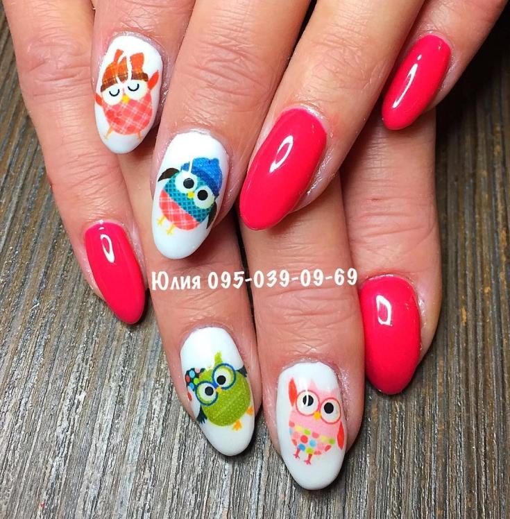 35 Фото дизайн ногтей с совами