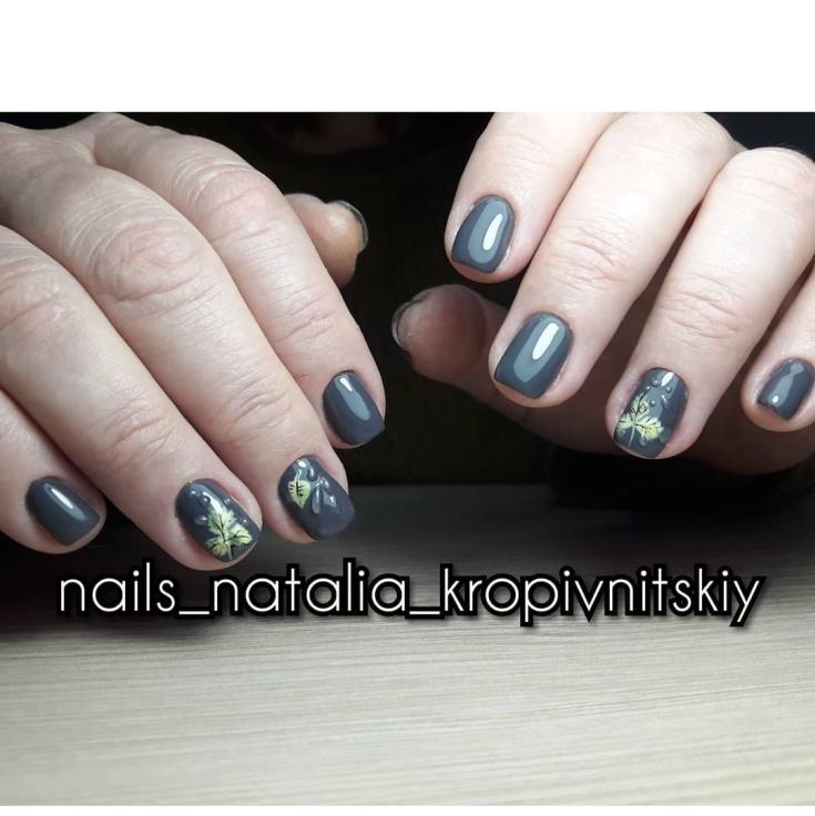 2021 27 фото новинок осеннего дизайна ногтей оранжевый листопад