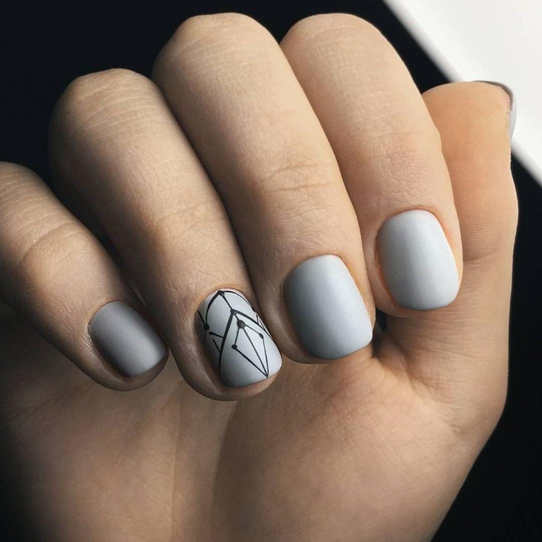 50 фото маникюр на короткие ногти зима 2019