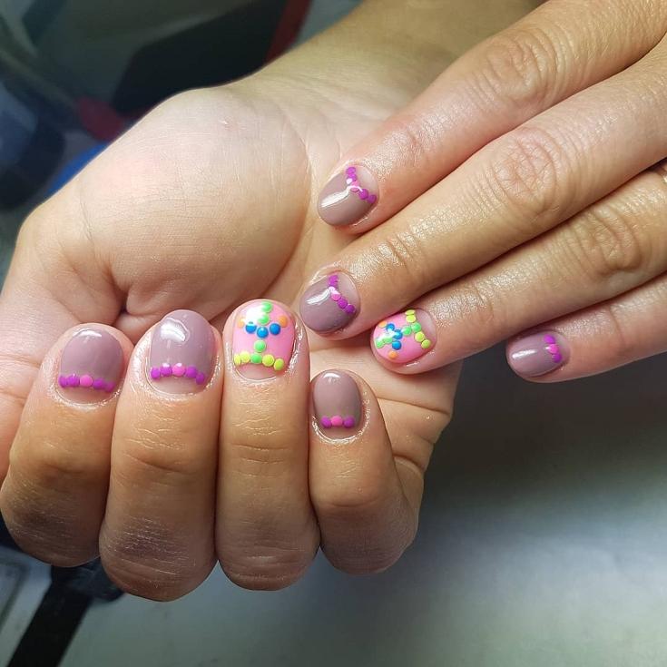 Летний маникюр 2019 на короткие ногти