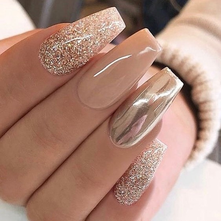 Red And Gold Nails Design (2019) самый кр...