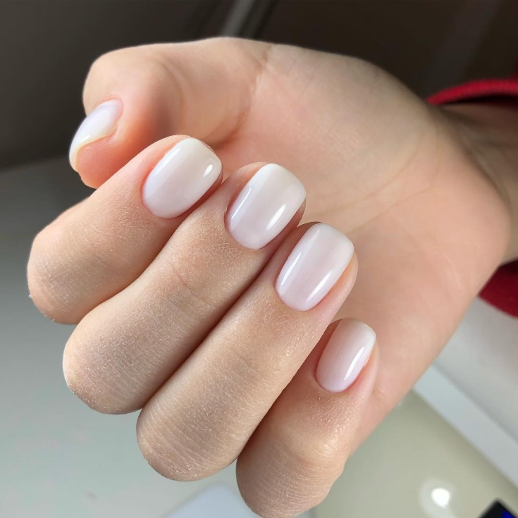 Весенний маникюр на короткие квадратные ногти
