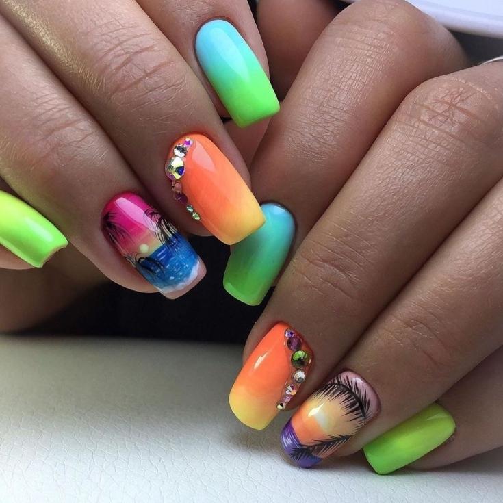 33 свежих идей дизайна ногтей лето