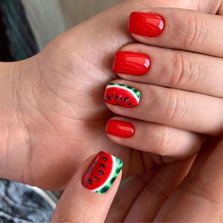 Фото дизайн ногтей микс