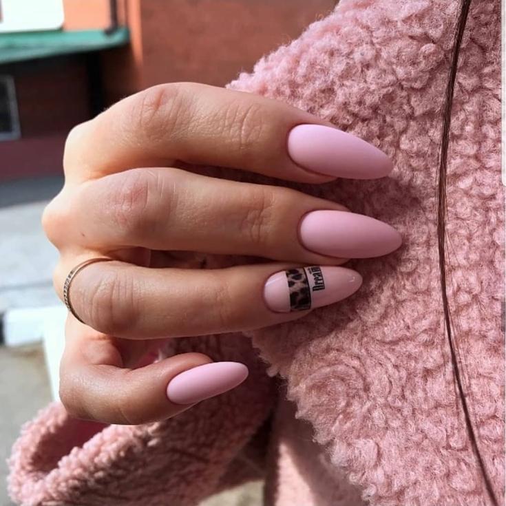 2021 Розовый длинный маникюр