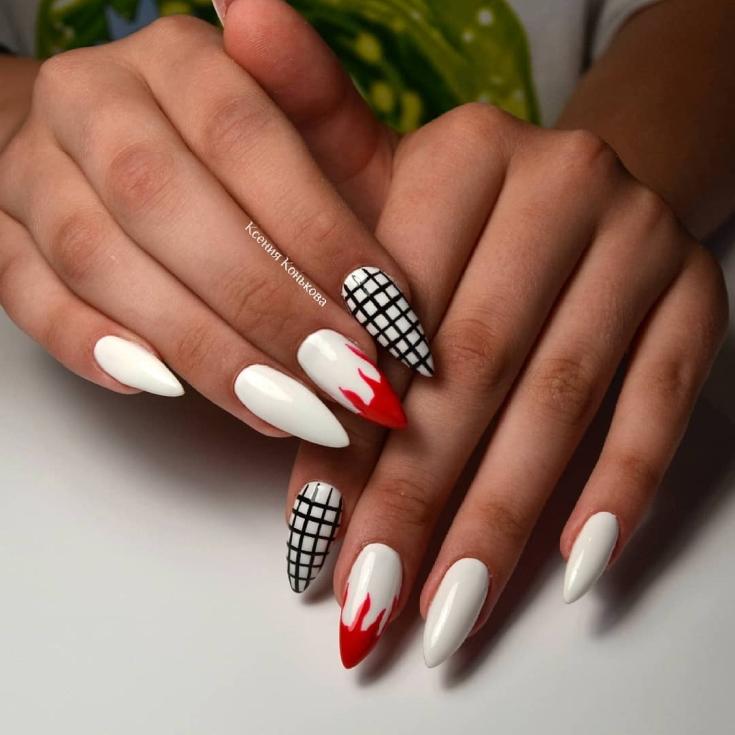29 Фото Дизайн острых ногтей