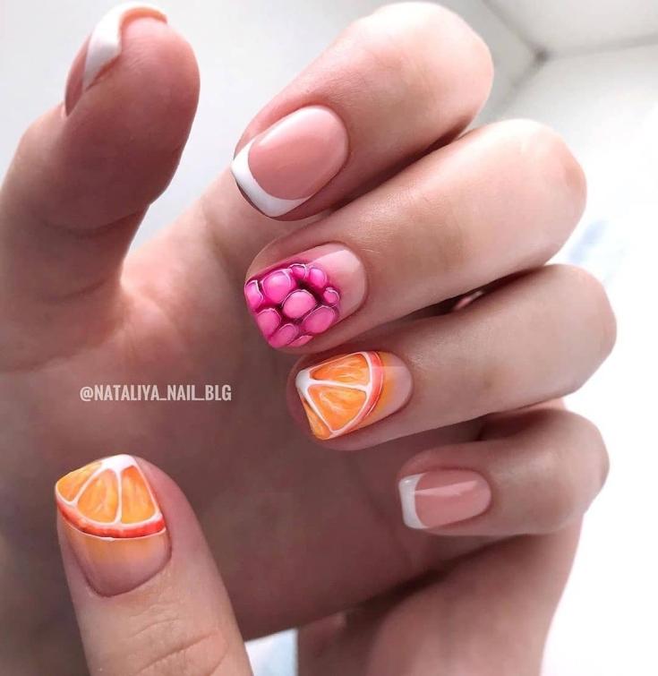 32 фото френч с рисунком современные идеи дизайна ногтей