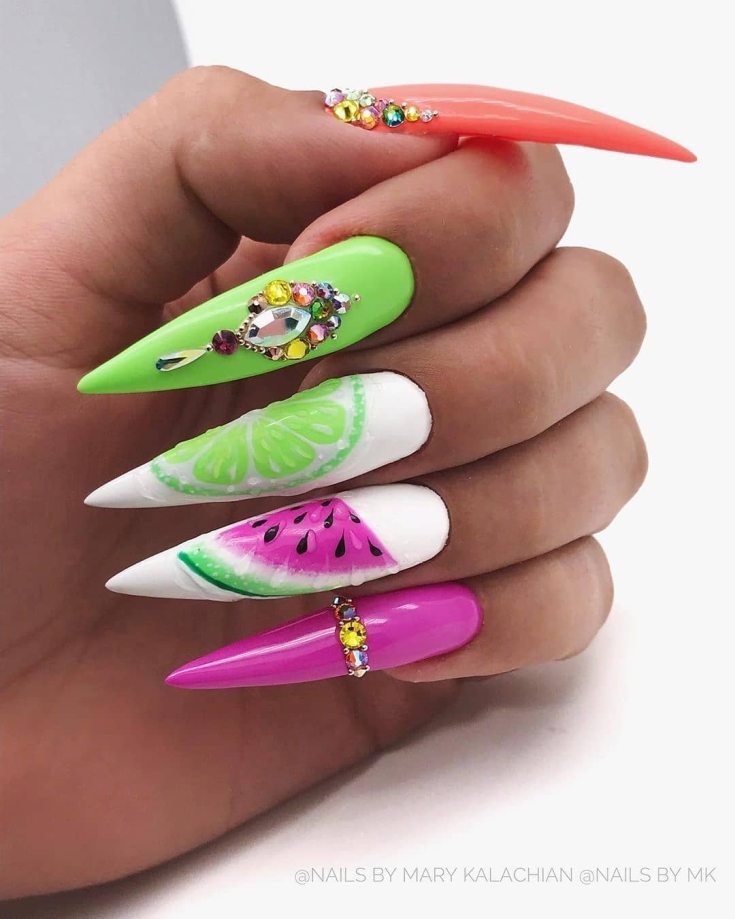 2021 33 свежих идей дизайна ногтей лето