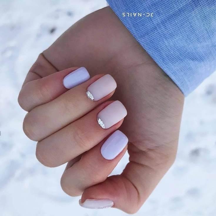 Маникюр на короткие ногти 2021 нежные лето