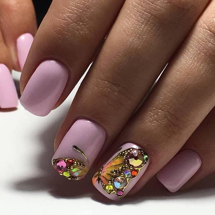 373 фото маникюр бабочки на ногтях