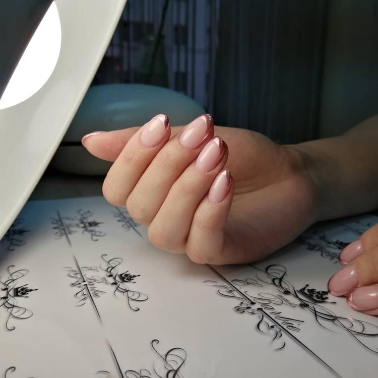 Модный французский маникюр 380 фото идей