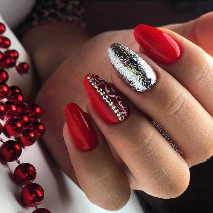 Топ 315 фото красный дизайн ногтей красивые новинки