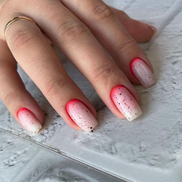 Квадратные ногти дизайн лето