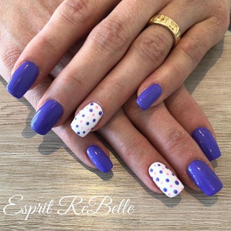 Фиолетовые Ногти Дизайн Фото