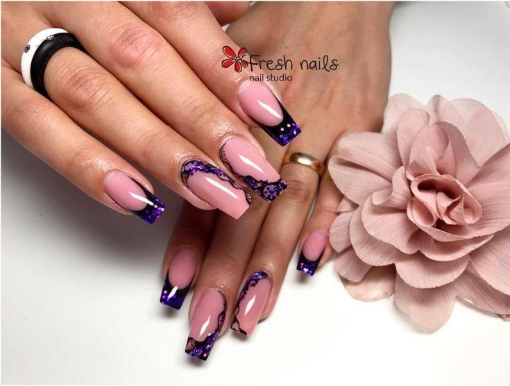 25) Аквариумный дизайн ногтей с блестками 25 фото + видео ...