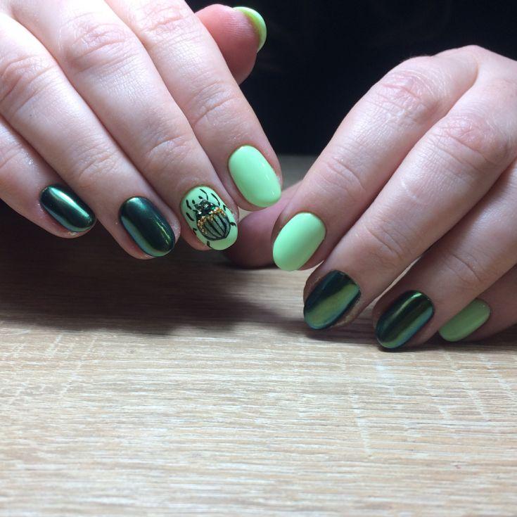 дизайн ногтей майский жук фото