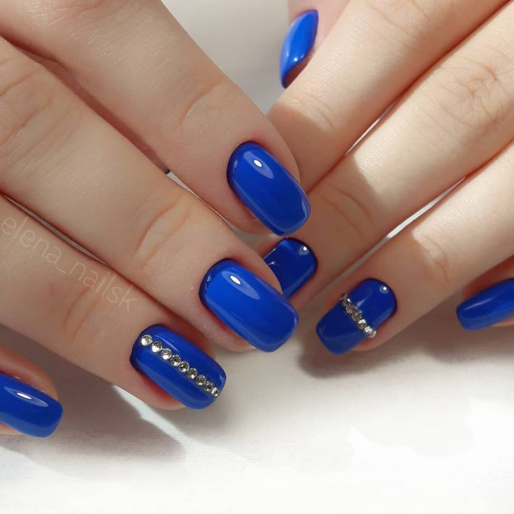 23) Дизайн ногтей синего цвета фото новинки 23 фото