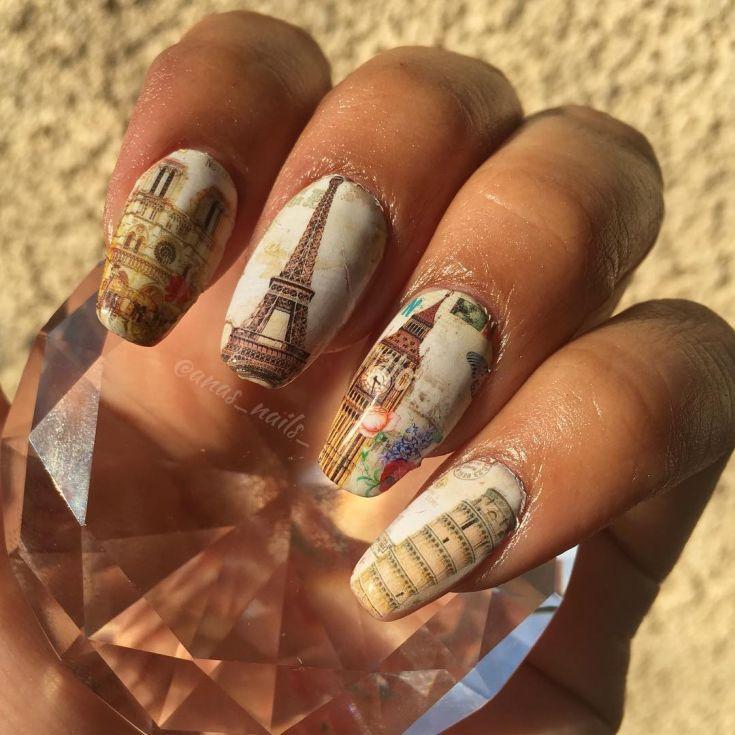 скульптура дизайн ногтей картинки парижа упакованным