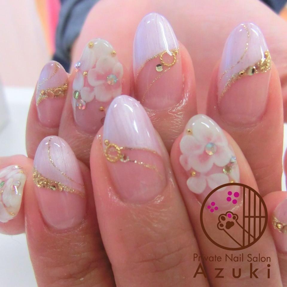 25) Дизайн ногтей френч с рисунком современные идеи