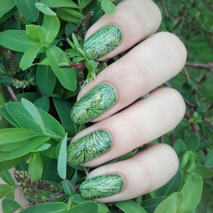 Красивые Матовые Ногти С Рисунком