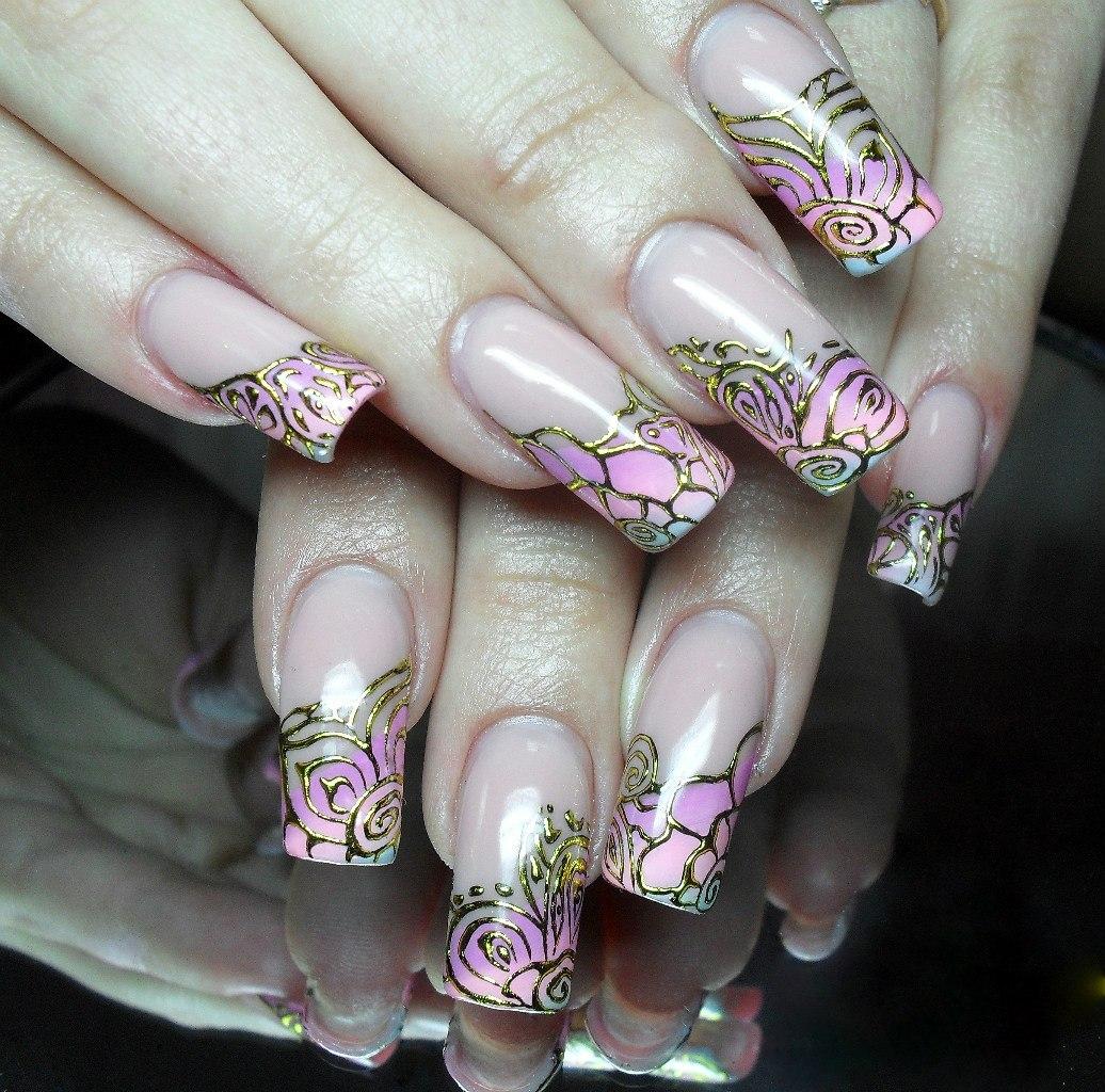 Литье узоры ногтей фото