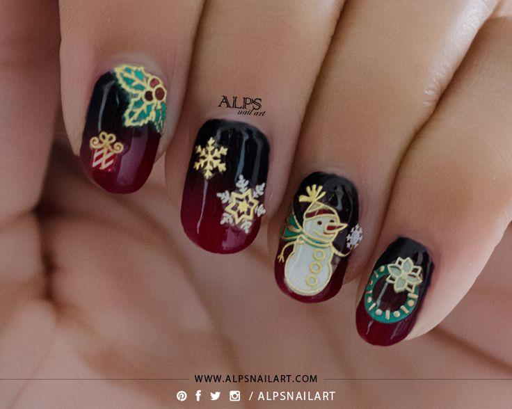Идеи Новогоднего Маникюра Снежинки