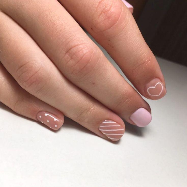 скромный маникюр на коротких ногтях фото