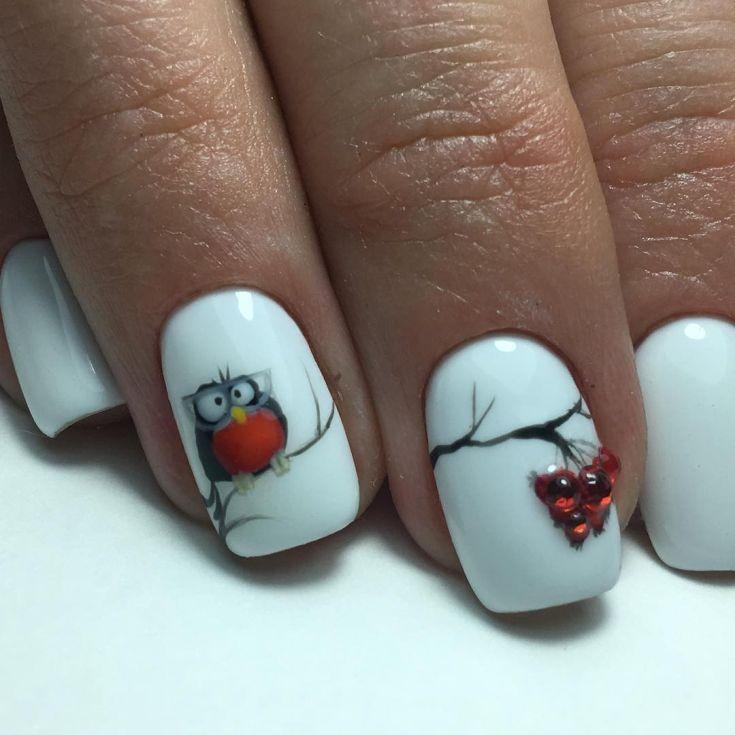 рябина в снегу рисунки на ногтях фото можно использовать как