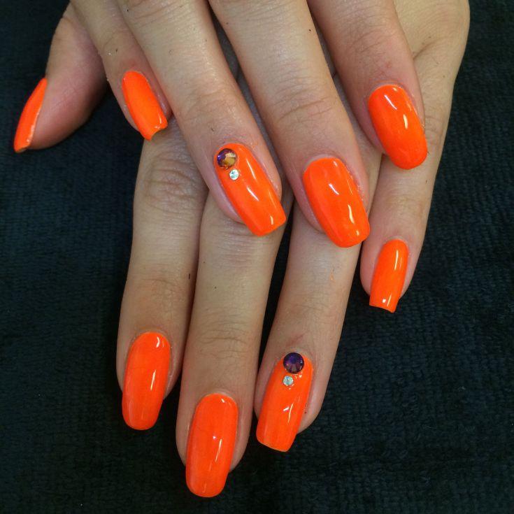 280 фото оранжевый маникюр ногтей модные тенденции