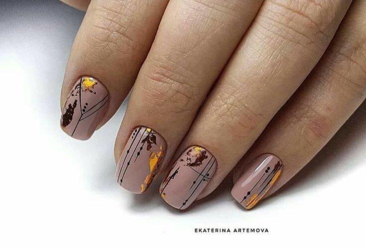 2021 222 фото идеи коричневого маникюра (шоколадный цвет)